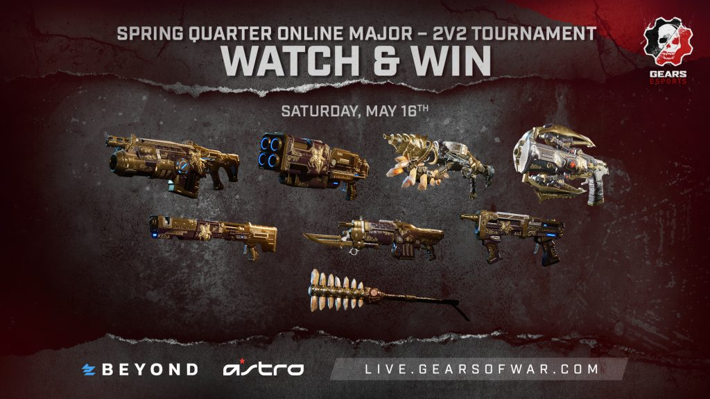 Non-loadout Desperado skins that will be given out during the 2v2 streams on Sat, May 16
