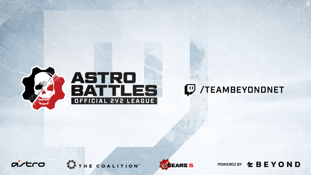 "Image showing Astro Battles with the Twitch channel ""TeamBeyondNet"" highlighted to the side, and; Astro, The Coalition, Gears 5 and Beyond branding on the bottom."
