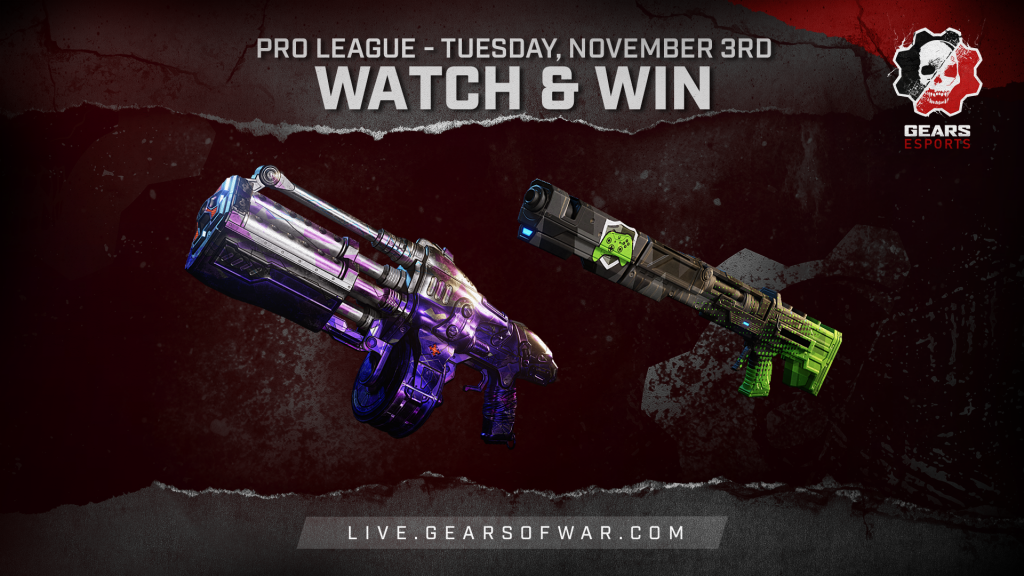 Image showing the Watch & Win Rewards for November 3rd, which are the Bedazzled Boomshot and Showdown Embar