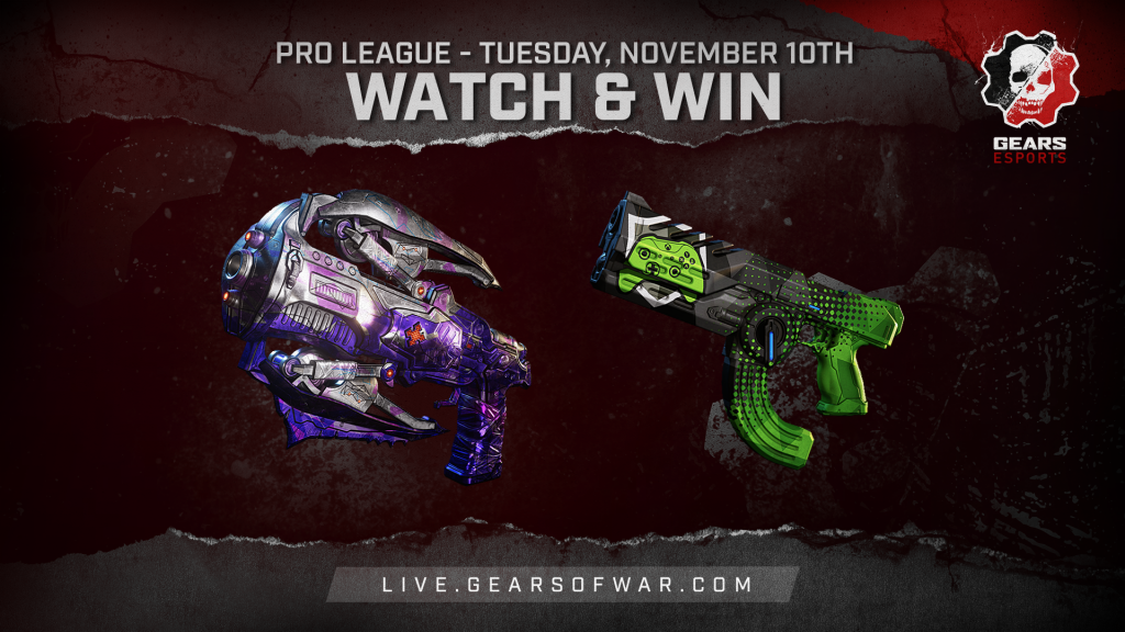 Image showing the Watch & Win Rewards for November 10th, which are the Bedazzled Torque Bow and Showdown Talon