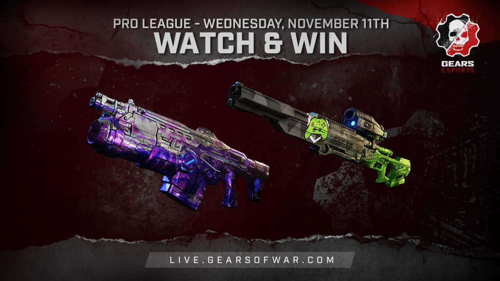 Image showing the Watch & Win Rewards for November 11th, which are the Bedazzled Lancer GL and Showdown Longshot