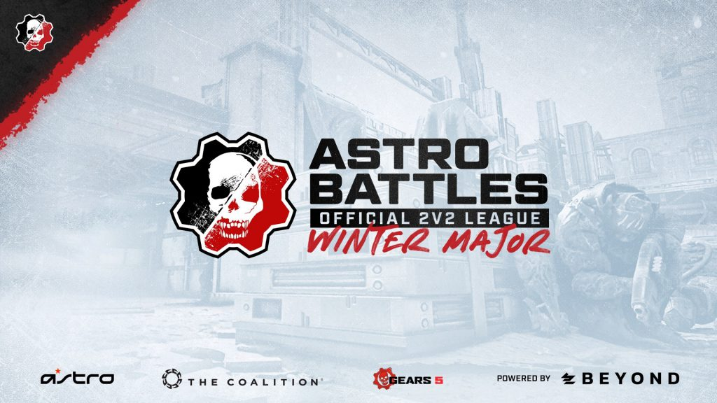 Image showing Astro Battles 2v2 Winter Major, with Astro, The Coalition, Gears 5, and Beyond branding on the bottom.