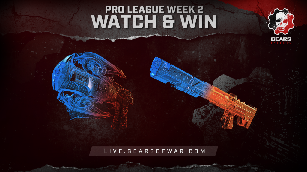 Image showing the Week 2 items of the Split 2 Phase 1 Gears Pro League Watch & Win which are the Embar and Torque Bow