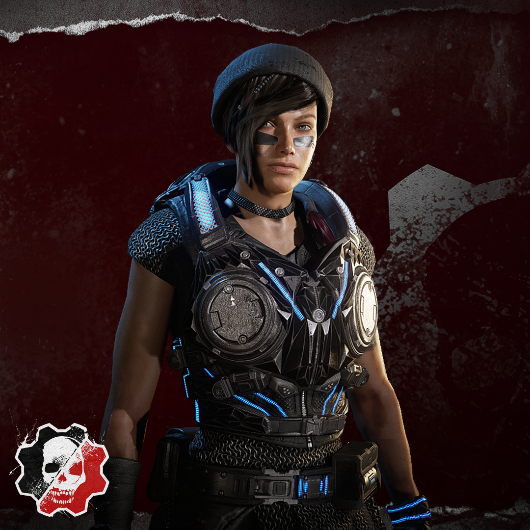 Image showing the Black Steel Kait character skin that is won by being a top scoring user at the end of Split 3 through Watch & Win.
