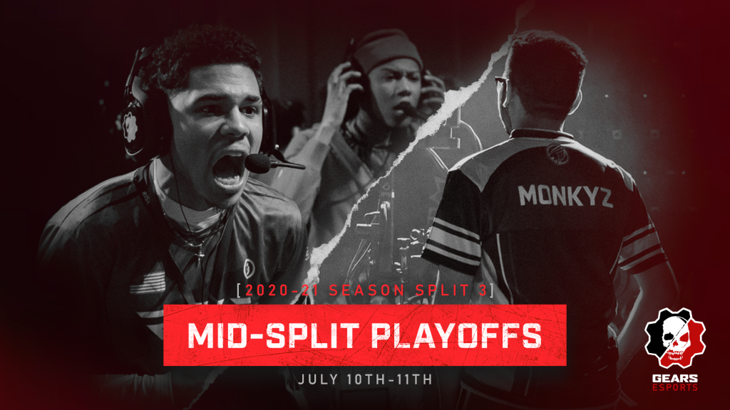 Promotional Image for the Split 3 Mid-Split Playoffs that take place on July 10th-11th, 2021
