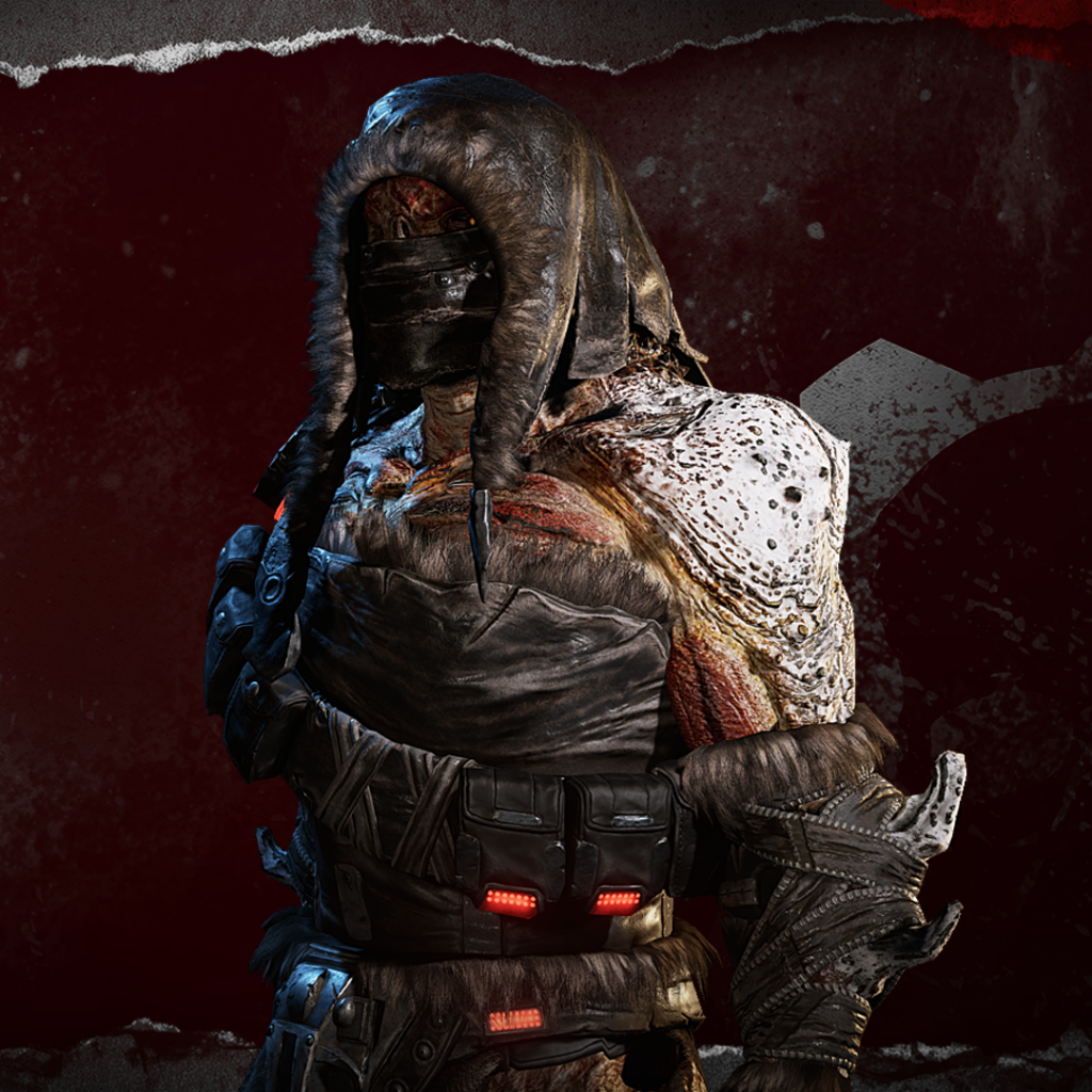 Image showing the Winter Swarm Hunter character skin that is won by being a top scoring user at the end of Split 1 through Watch & Win.